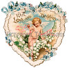 Vintage Romance, Love and Valentines : Antique Valentine images - many over 100-years old